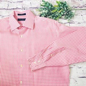 Daniel Cremieux Pink Long Sleeve Button Collar M